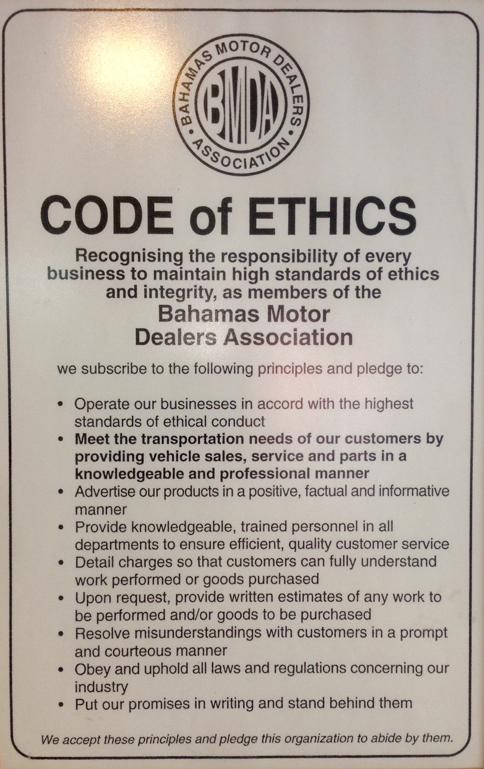 BMDA Code
