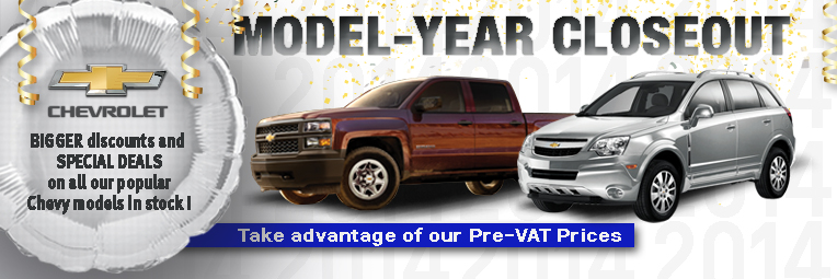Chevy year close out banner ad