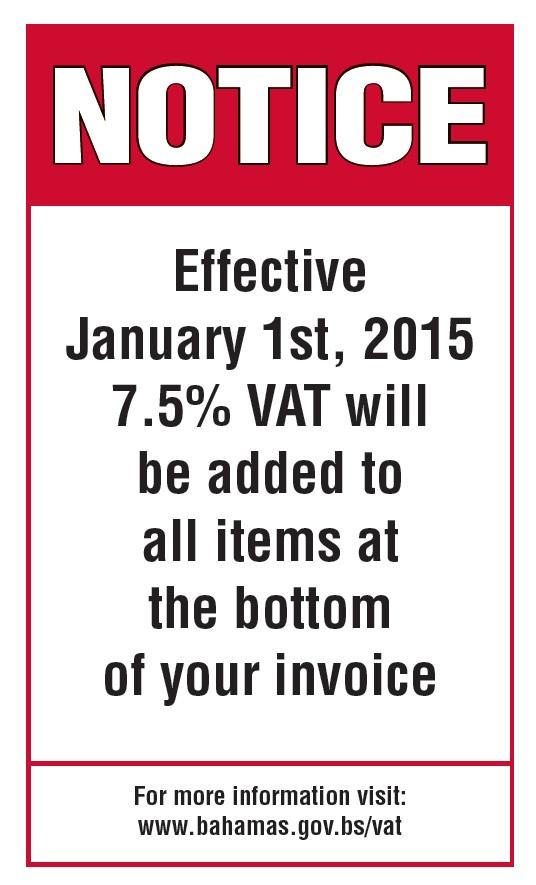 NMC VAT Notice
