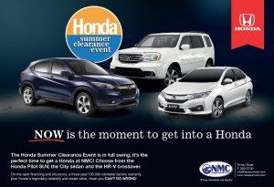 Honda Summer Clearance