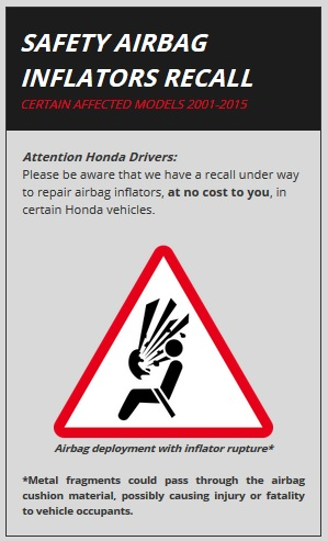 Both Honda And Nassau Motor Company Put High Priority On The Safety Quality Of Our Products